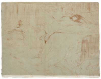 Henri de Toulouse-Lautrec, 'Femme sur le dos - Lassitude from Elles'