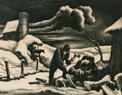 Thomas Hart Benton, 'The Woodpile', 1939