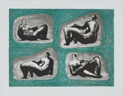 Henry Moore, 'Four Reclining Figures: Caves', 1974