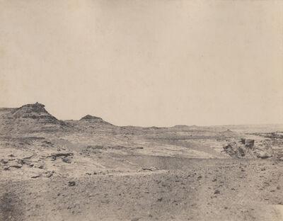 """John Beasley Greene, '""""4 . Etude de terraines pres de Gebel Abousir (2e cataracte)"""" ', 1854"""