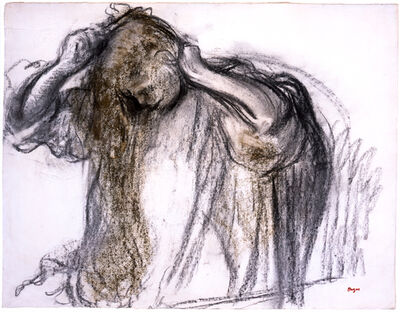 Edgar Degas, 'Woman Combing Herself', 1894