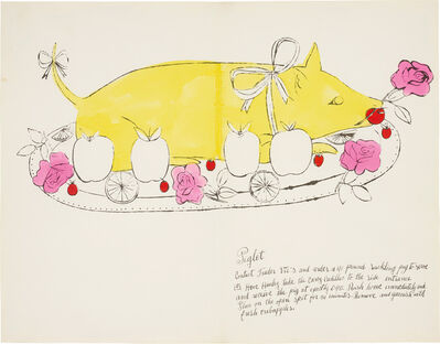 Andy Warhol, 'Piglet, from Wild Raspberries', 1959