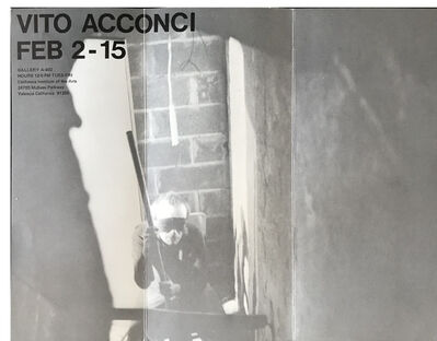 Vito Acconci, 'Poster / Mailer, 1970's, Exhibition at A-402 Gallery', 1970's