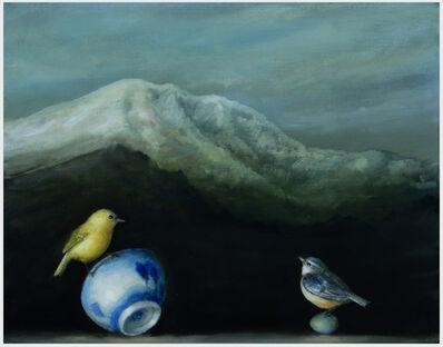 David Kroll, 'Mountain Landscape (Two Birds)', 2019