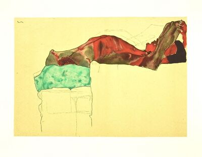 Egon Schiele, 'Reclining Male Nude with Green Cloth', 2007