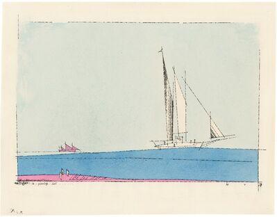 Lyonel Feininger, 'a passing Sail', 1933