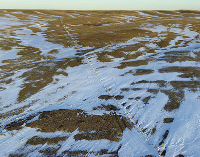 Andrew Moore, 'Fence Line Drift, Dawes County, Neb', 2011