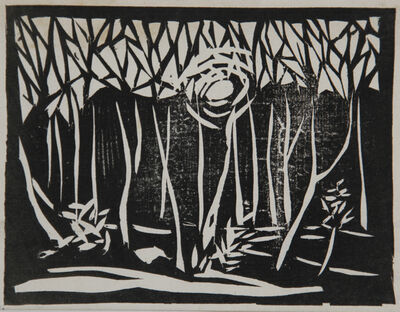 Ernst Ludwig Kirchner, 'Sonnenuntergang im Walde (Sunset in the Forest)', 1906