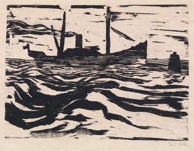 Emil Nolde, 'FISCHDAMPFER', 1910