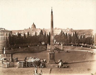 James Anderson, 'Piazza del Popolo, Rome', 1852