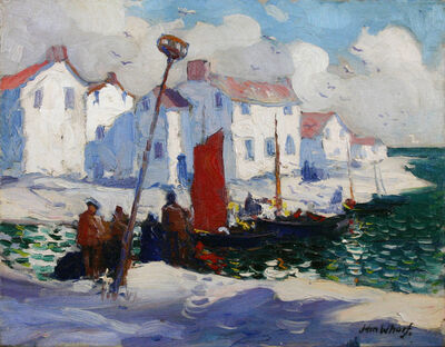 John Whorf, 'Harbor in Brittany',