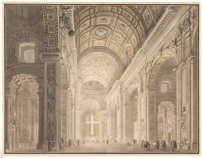 Giovanni Paolo Panini, 'Interior of St. Peter's Illuminated', ca. 1787