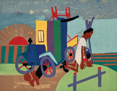 William Henry Johnson, 'Breakdown', ca. 1940