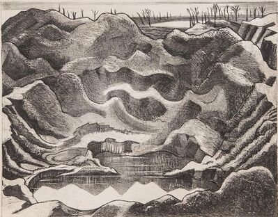 Paul Nash, 'Mine Crater (Hill 60)', 1917