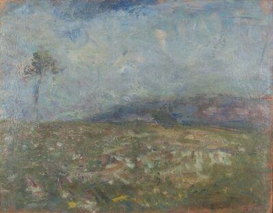Arturo Tosi, 'Prato fiorito con albero', early 1910s