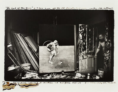 Peter Beard, 'Francis Bacon in his studio, 7 Reese Mews off the Old Brompton Road London (a painting later destroyed)', 1972