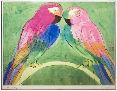 Walasse Ting 丁雄泉, 'Two Parrots', 1990