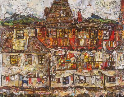 Vik Muniz, 'Repro: House with Drying Laundry, After Egon Schiele', 2019