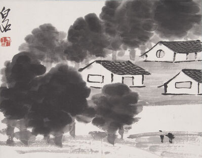 Qi Baishi, 'Rural Village', ca. 1930