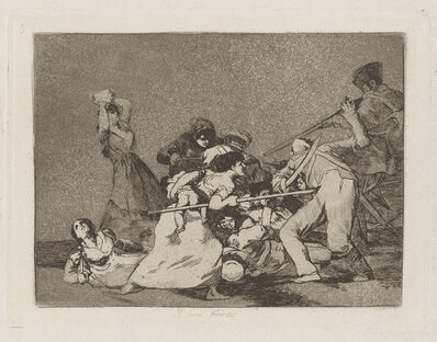 Francisco de Goya, 'Y son fieras [And they are like wild beasts], plate 5', 1811-1812