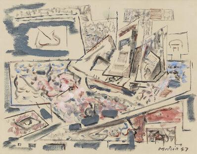 John Marin, 'Movement: Sea Played with Boat Motive', 1947