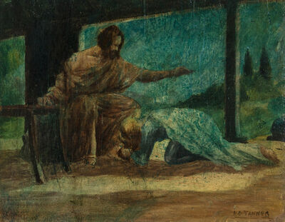 Henry Ossawa Tanner, 'Mary Washing the Feet of Christ', ca. 1910