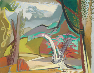 Ben Norris, 'Landscape Study III (for oil painting)', 1950