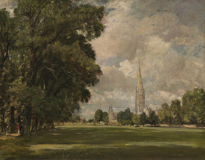 John Constable, 'Salisbury Cathedral from Lower Marsh Close', 1820