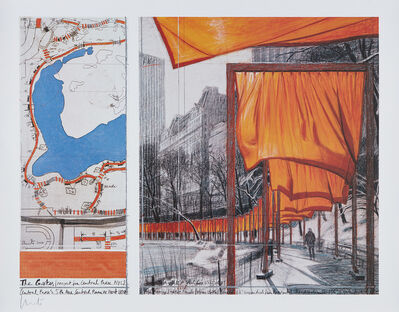 Christo, 'The Gates: Project for Central Park, New York City, XXIII', 2004