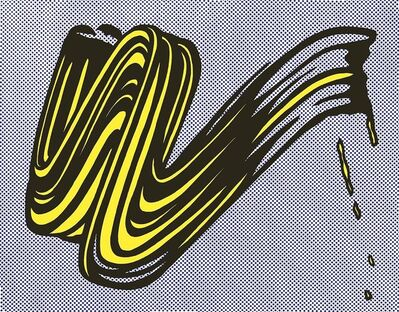 Roy Lichtenstein, 'Brushstroke Castelli Gallery mailer', 1965