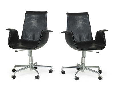Preben Fabricius, 'Pair of tilt-swivel Bird chairs', 1970s
