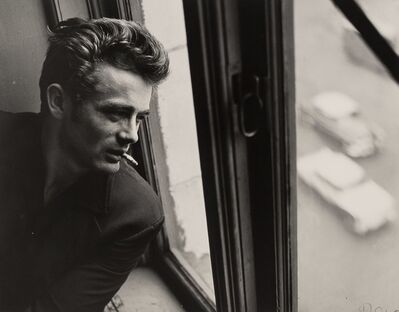 Roy Schatt, 'James Dean in Window with Cigarette, ABC Studios, New York City', 1954-printed later