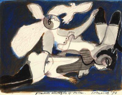 Corneille, 'Femmes allongées et oiseau'