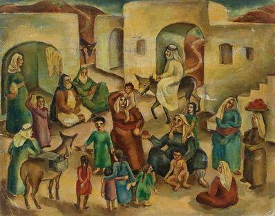 Ida Shelesnyak Mirrof, 'Jewish Village Palestine/Israel C.1930s Modernist Painting', Early 20th Century