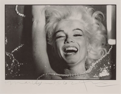 Bert Stern, 'Marilyn Monroe with rhinestones, from The Last Sitting for Vogue Together with Marilyn Monroe, with lips partially parted, from The Last Sitting for Vogue', 1962