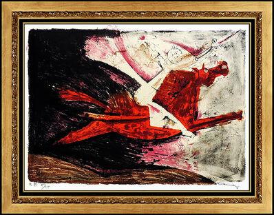 Rufino Tamayo, 'Rufino Tamayo Authentic Hand Signed Original Color Lithograph Horse Portrait Art', 1950-1969