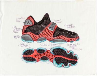 Tinker Hatfield, 'Concept Design for Air Jordan XIII Sneaker', 1996