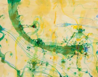 John Olsen (b.1928), 'Frogs and Banana Leaf', 0000