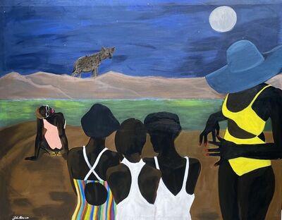 John Madu, 'City Girls on Rousseau's Beach ', 2020