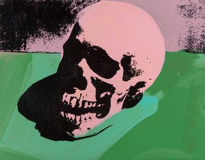 Charles Lutz, 'Skull (Pink/Green)', 2007