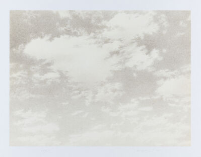 Vija Celmins, 'Untitled (Sky), from the portfolio Untitled', 1975