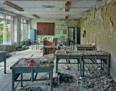 Robert Polidori, 'Classrooms in School #5, Pripyat, Ukraine', 2001