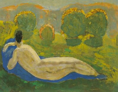 Alfons Walde, 'Reclining Nude from the Back in the Sunset', ca. 1920