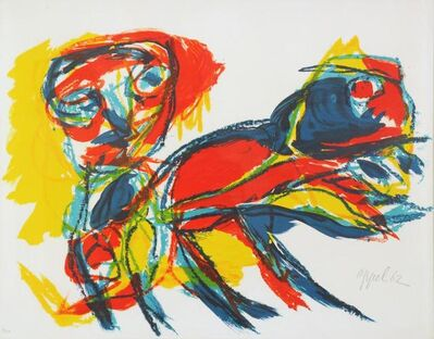 Karel Appel, 'Man and Red Beast', 1962