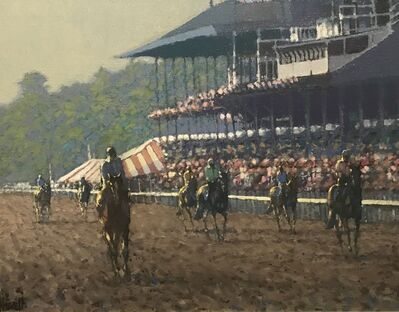 Peter Howell, 'Training on the Track, Saratoga', Late 20th Century