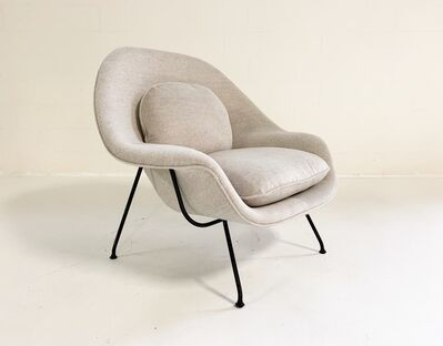 Eero Saarinen, 'Womb Chair in Loro Piana Alpaca Wool', mid 20th century