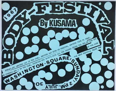 Yayoi Kusama, 'Kusama Body Festival (60s Kusama illustrated announcement) ', 1967
