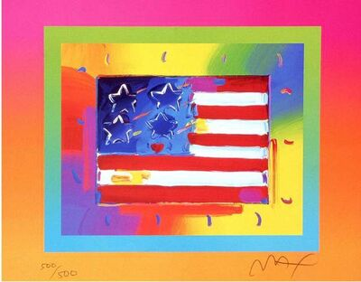 Peter Max, 'Flag with Heart on Blends II, Ver II', 2005