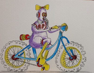Grayson Perry, 'Safe Cycling in Heels (Unique Original Artwork)', 2020