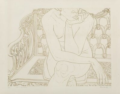 Philip Pearlstein, 'Nude on Iron Bench', 1975
